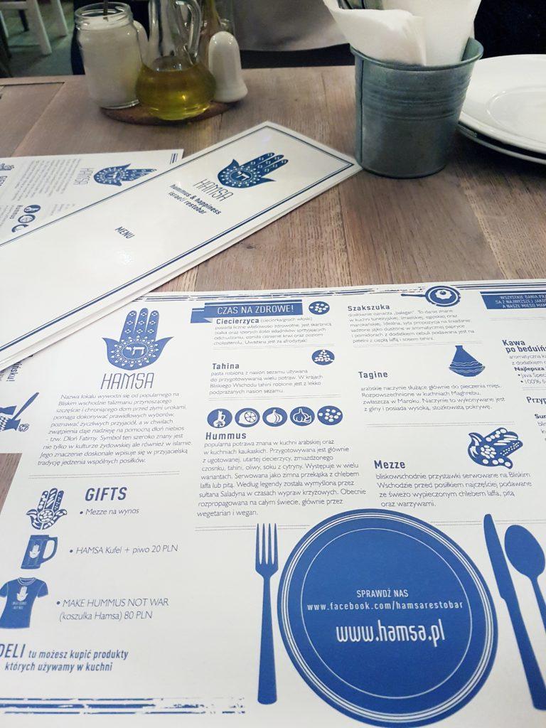hamsa restauracja kraków kaizmierz menu wnętrze